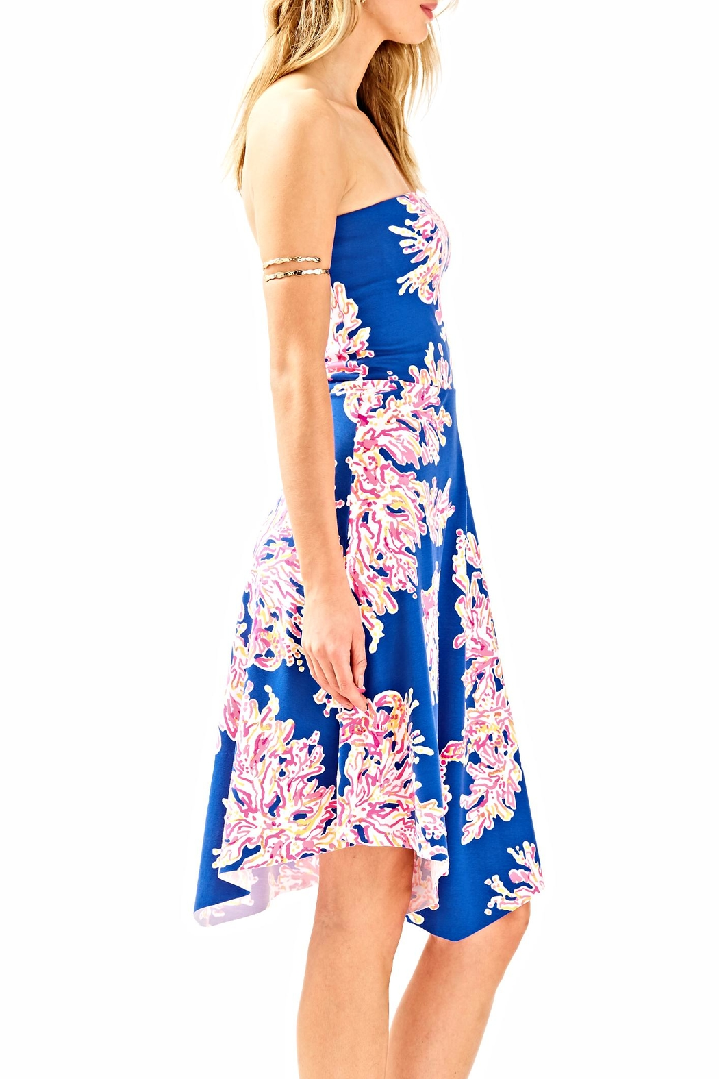 Lilly Pulitzer Loleta Strapless Dress - Front Full Image