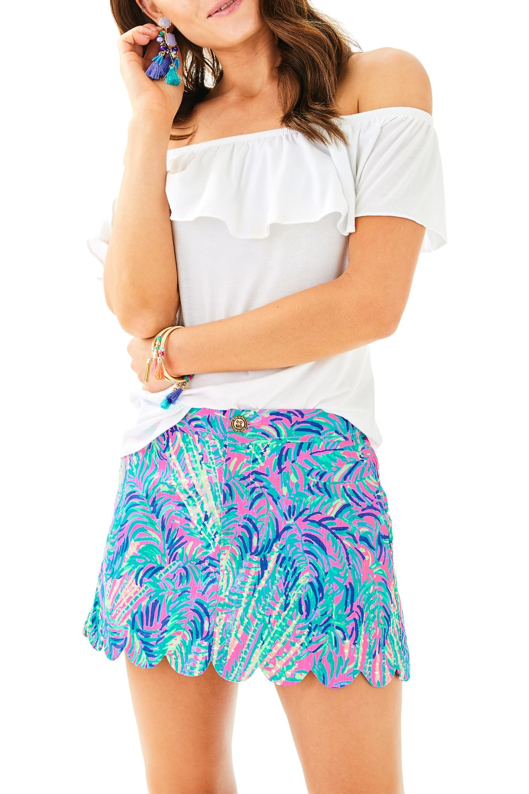 Lilly Pulitzer Lorelie Skort - Front Cropped Image
