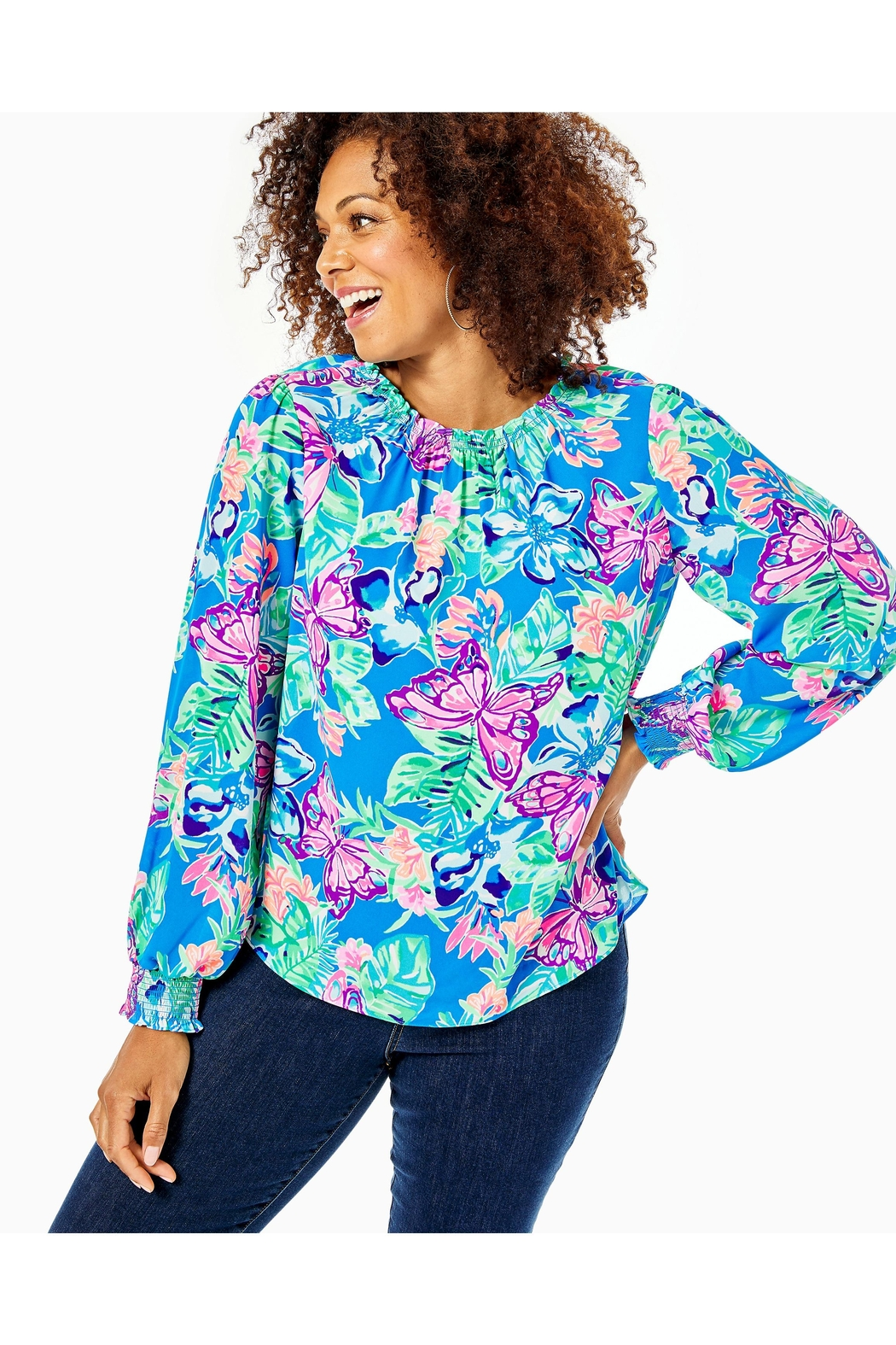 Lilly Pulitzer Luce Top - Back Cropped Image