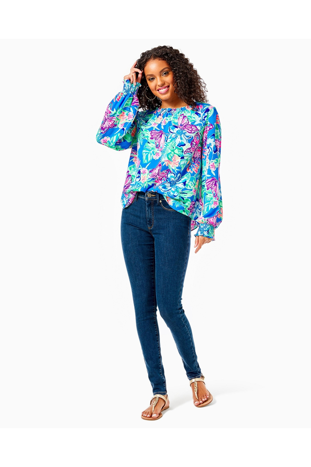 Lilly Pulitzer Luce Top - Side Cropped Image
