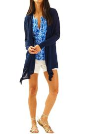 Lilly Pulitzer Lucita Navy Cardigan - Product Mini Image