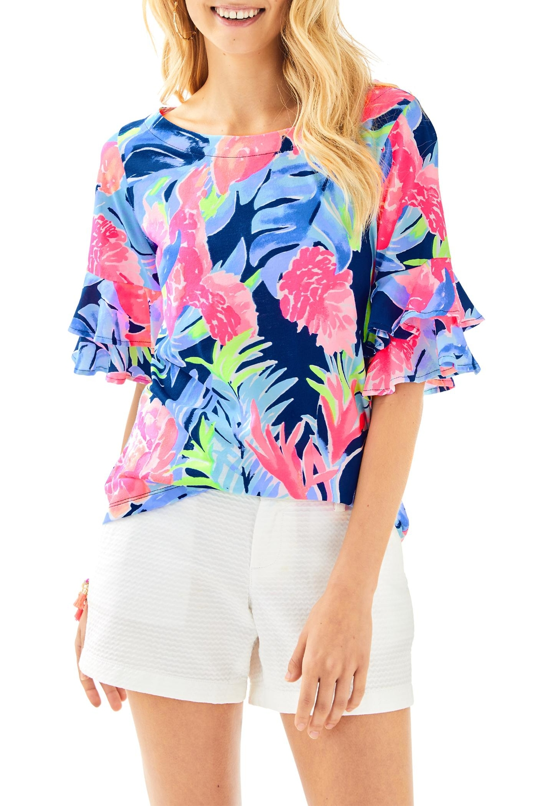 Lilly Pulitzer Lula Top - Front Cropped Image