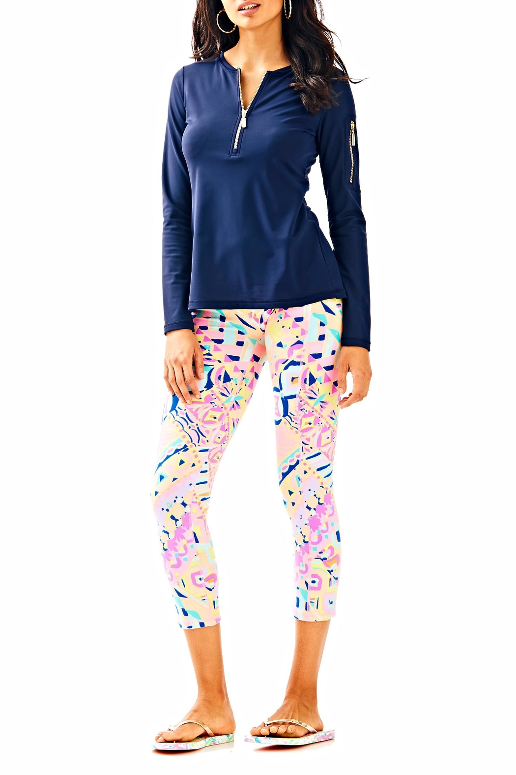 Lilly Pulitzer Luxletic Adley Sunguard - Front Cropped Image