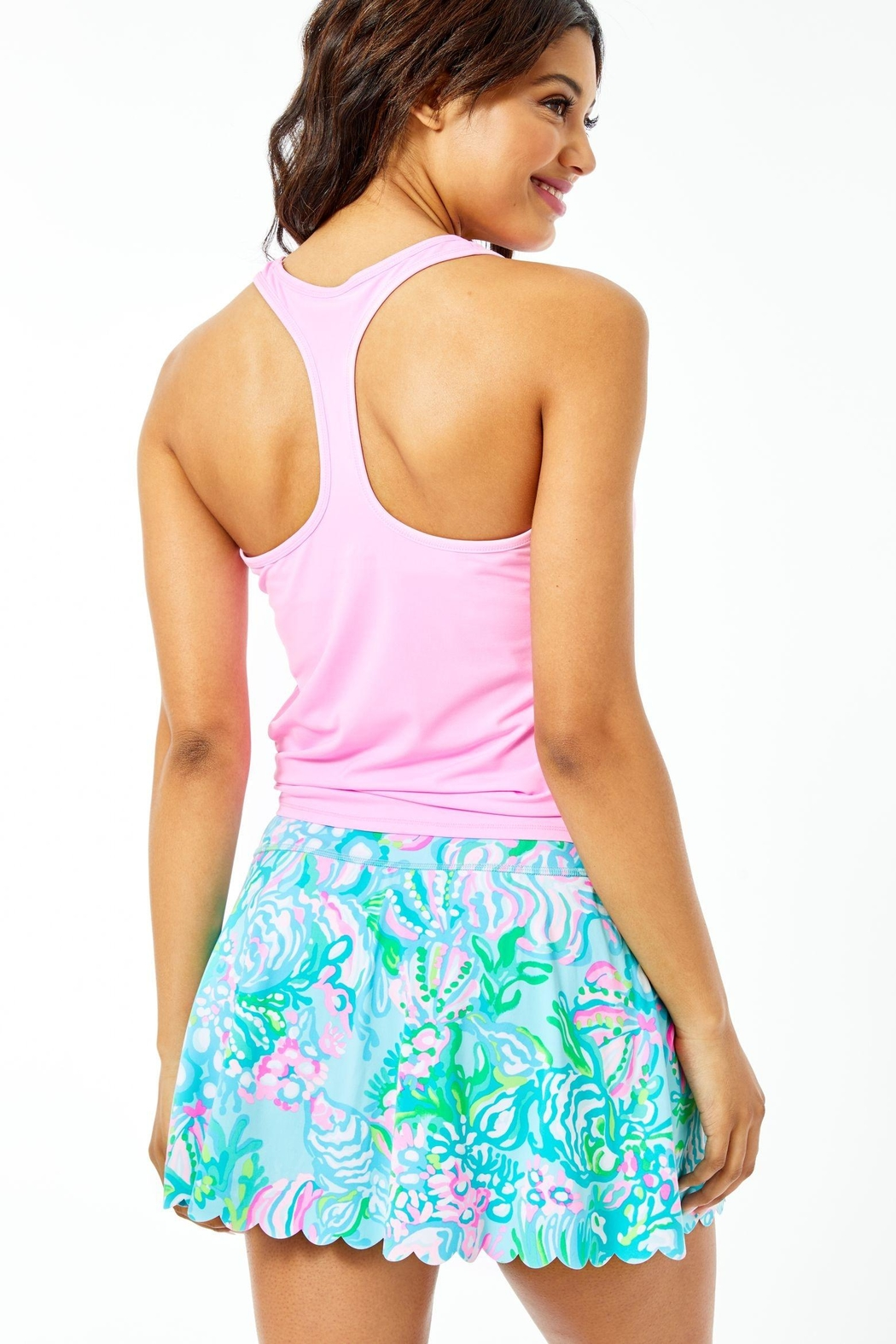 Lilly Pulitzer Luxletic Aila Scallop-Skort - Front Full Image