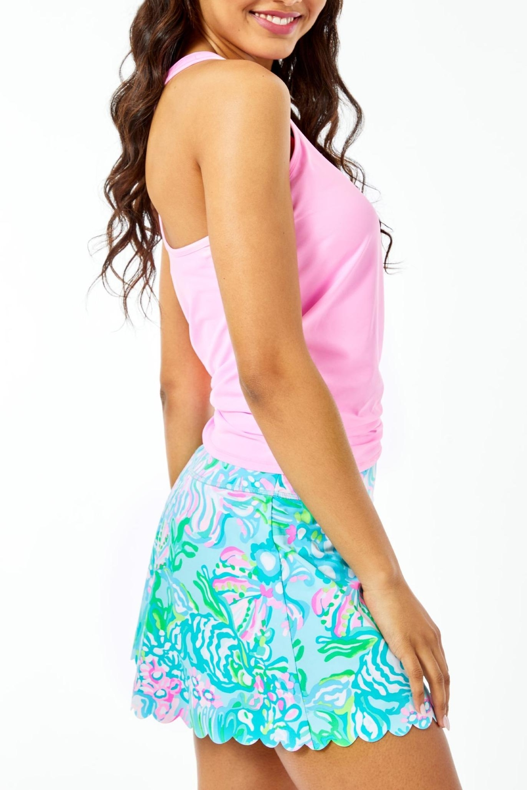 Lilly Pulitzer Luxletic Aila Scallop-Skort - Side Cropped Image