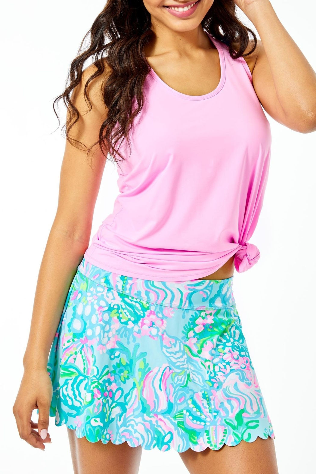 Lilly Pulitzer Luxletic Aila Scallop-Skort - Main Image
