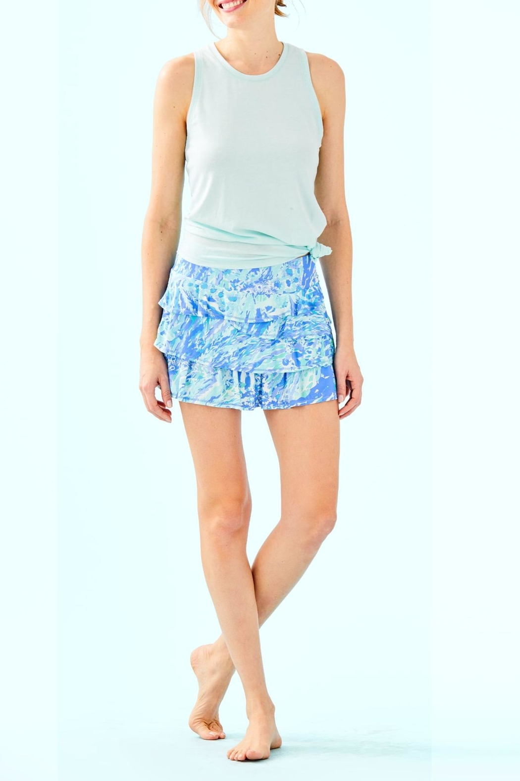 Lilly Pulitzer Luxletic Amira Skort - Back Cropped Image