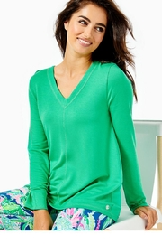 Lilly Pulitzer Luxletic Areli Pullover - Front cropped