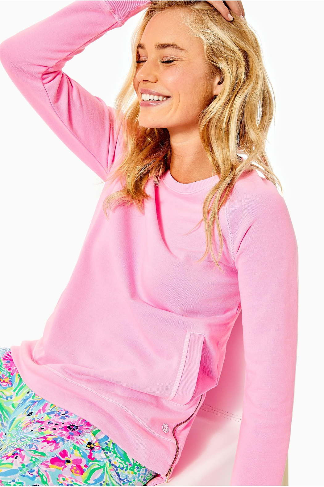 Lilly Pulitzer Luxletic Beach-Comber Pullover - Front Cropped Image