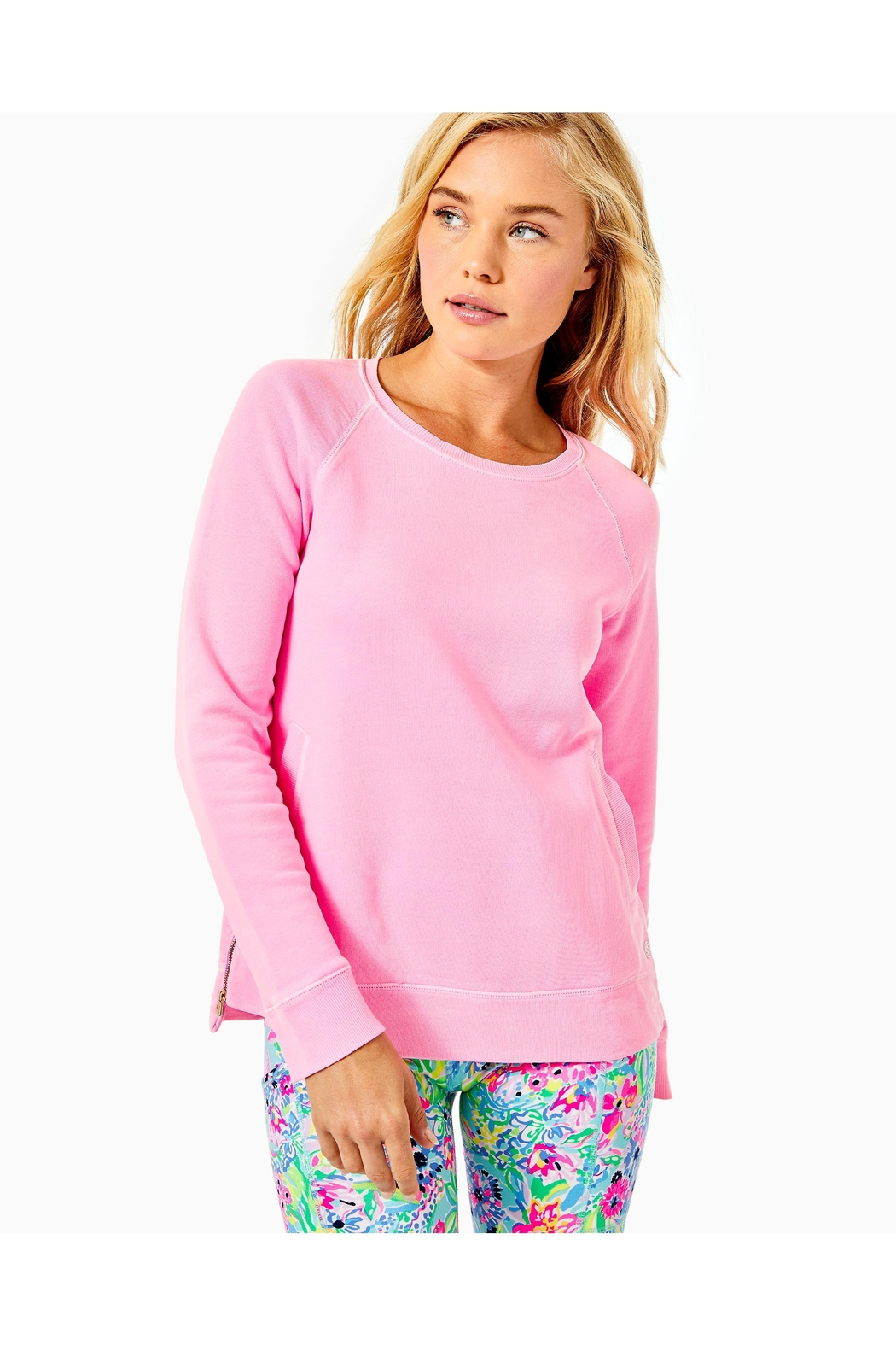 Lilly Pulitzer Luxletic Beach-Comber Pullover - Side Cropped Image