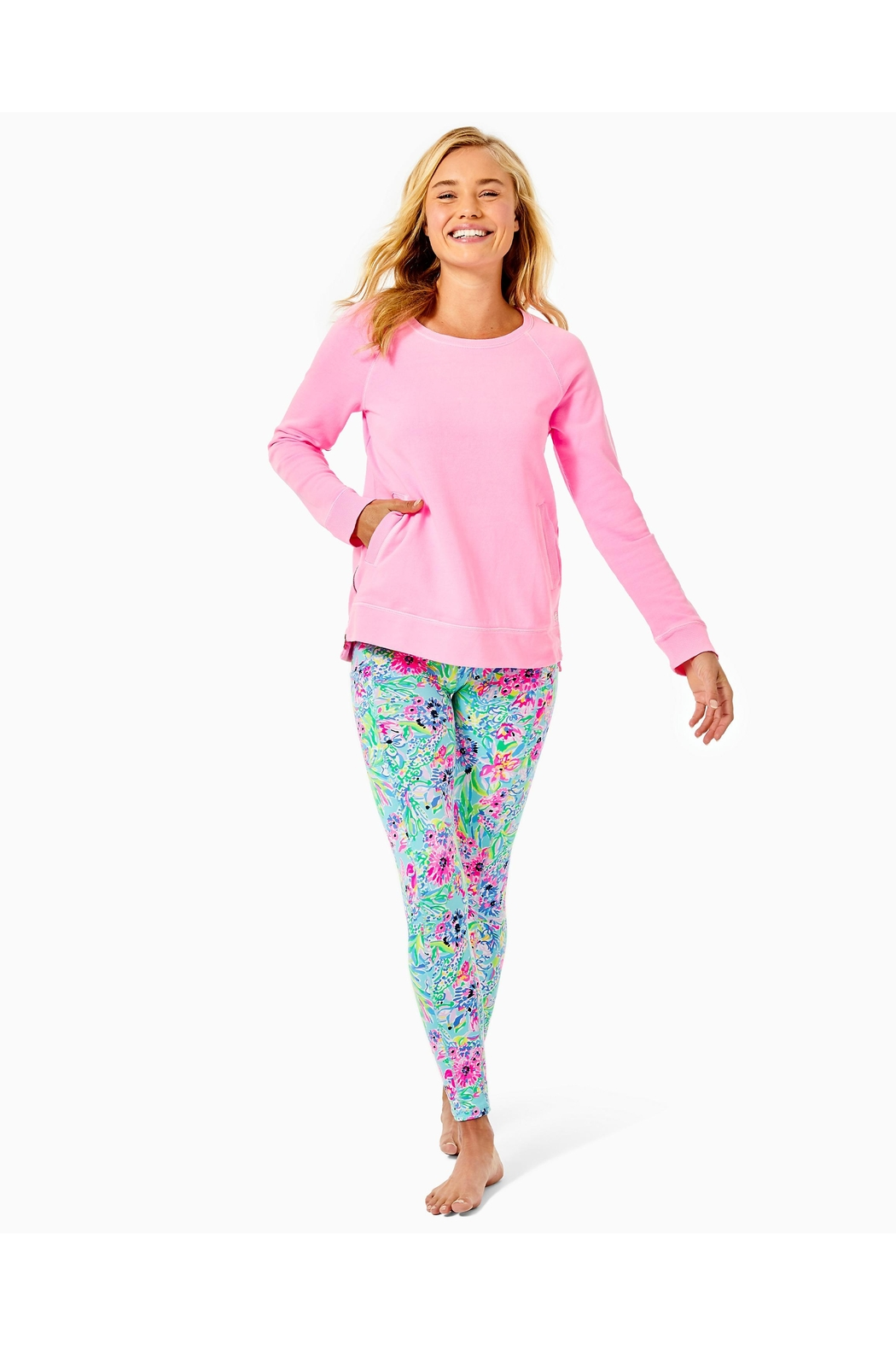 Lilly Pulitzer Luxletic Beach-Comber Pullover - Back Cropped Image