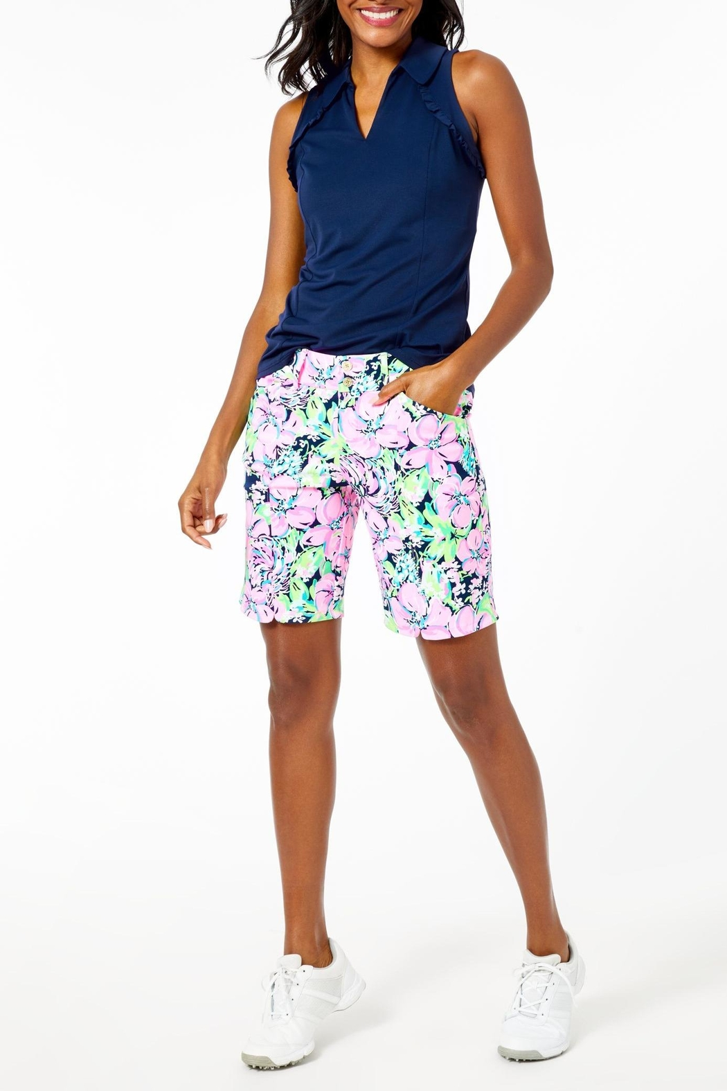 Lilly Pulitzer Luxletic Bettina Short - Back Cropped Image