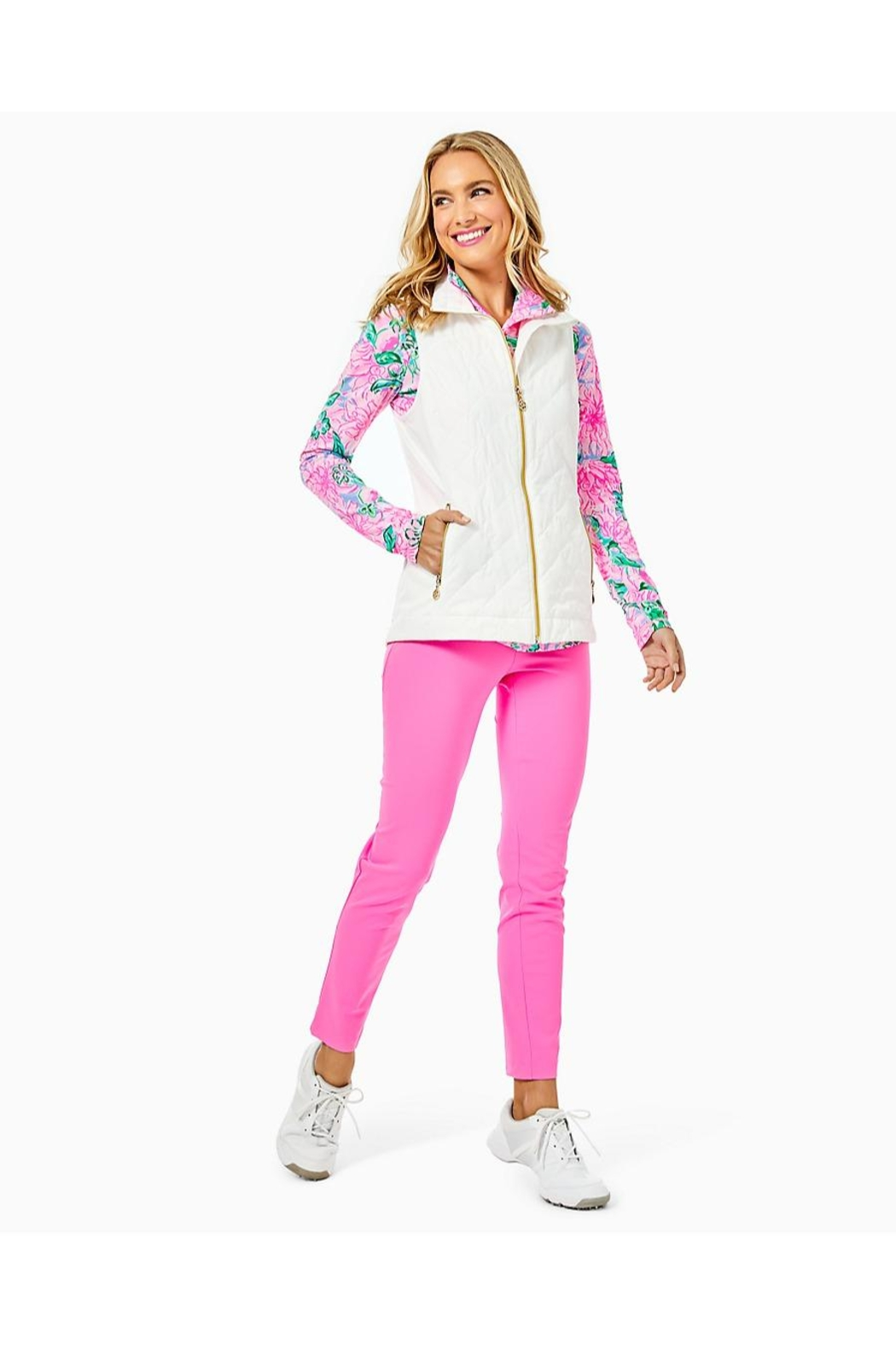 Lilly Pulitzer Luxletic Beverly Vest - Side Cropped Image