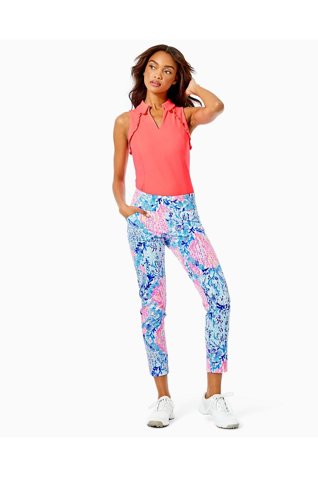 Lilly Pulitzer Luxletic Corso Pant - Back Cropped Image