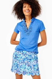 Lilly Pulitzer Luxletic Frida-Flower Polo-Top - Product Mini Image