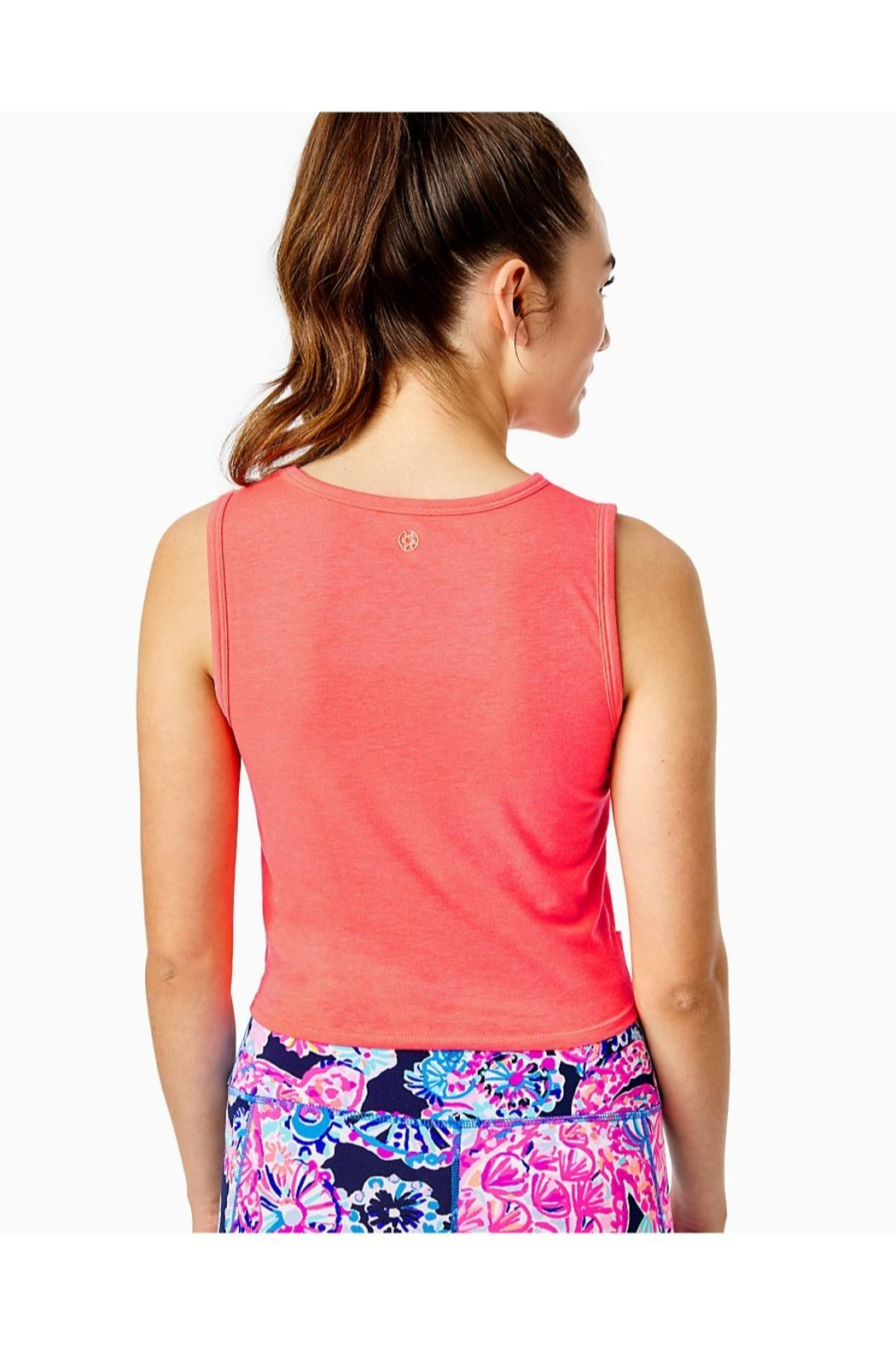 Lilly Pulitzer Luxletic Greer Tank-Top - Front Full Image