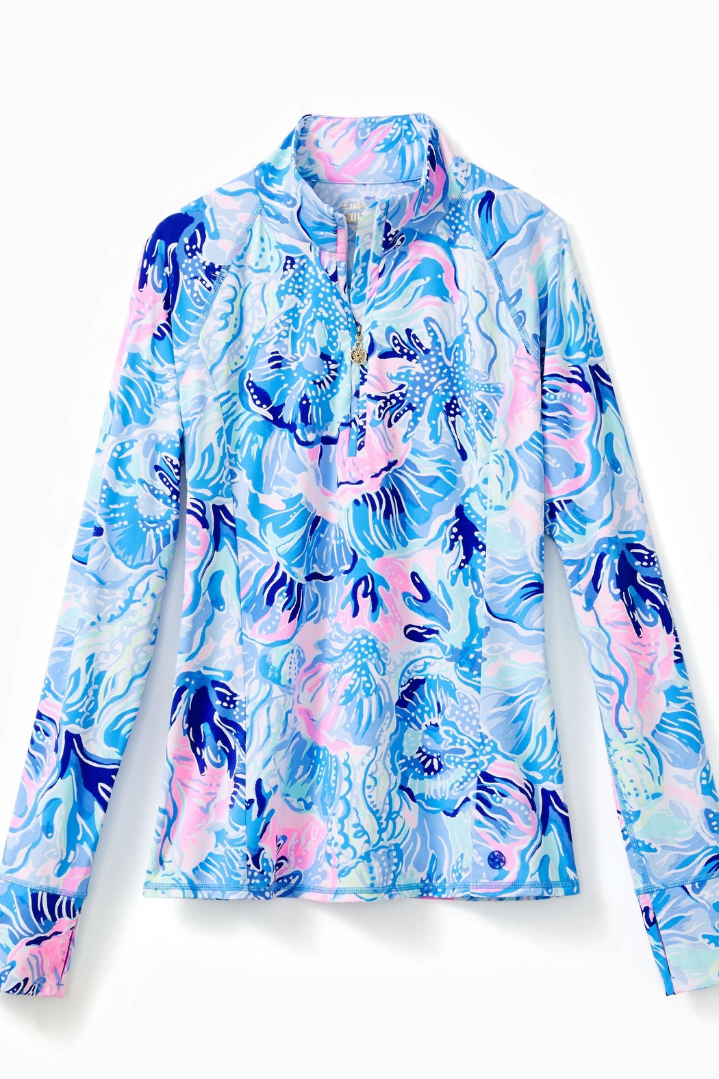 Lilly Pulitzer Luxletic Half-Zip Sunguard - Main Image