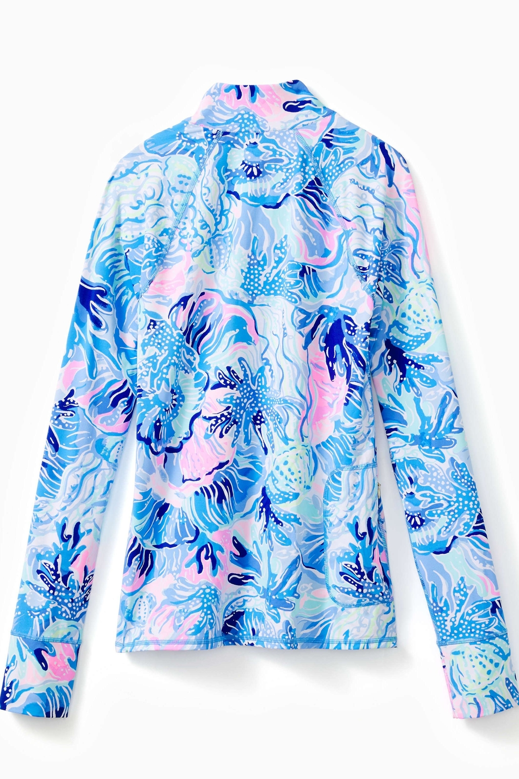 Lilly Pulitzer Luxletic Half-Zip Sunguard - Front Full Image