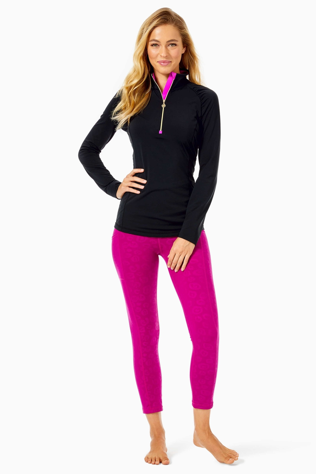 Lilly Pulitzer Luxletic Justine Pullover - Side Cropped Image