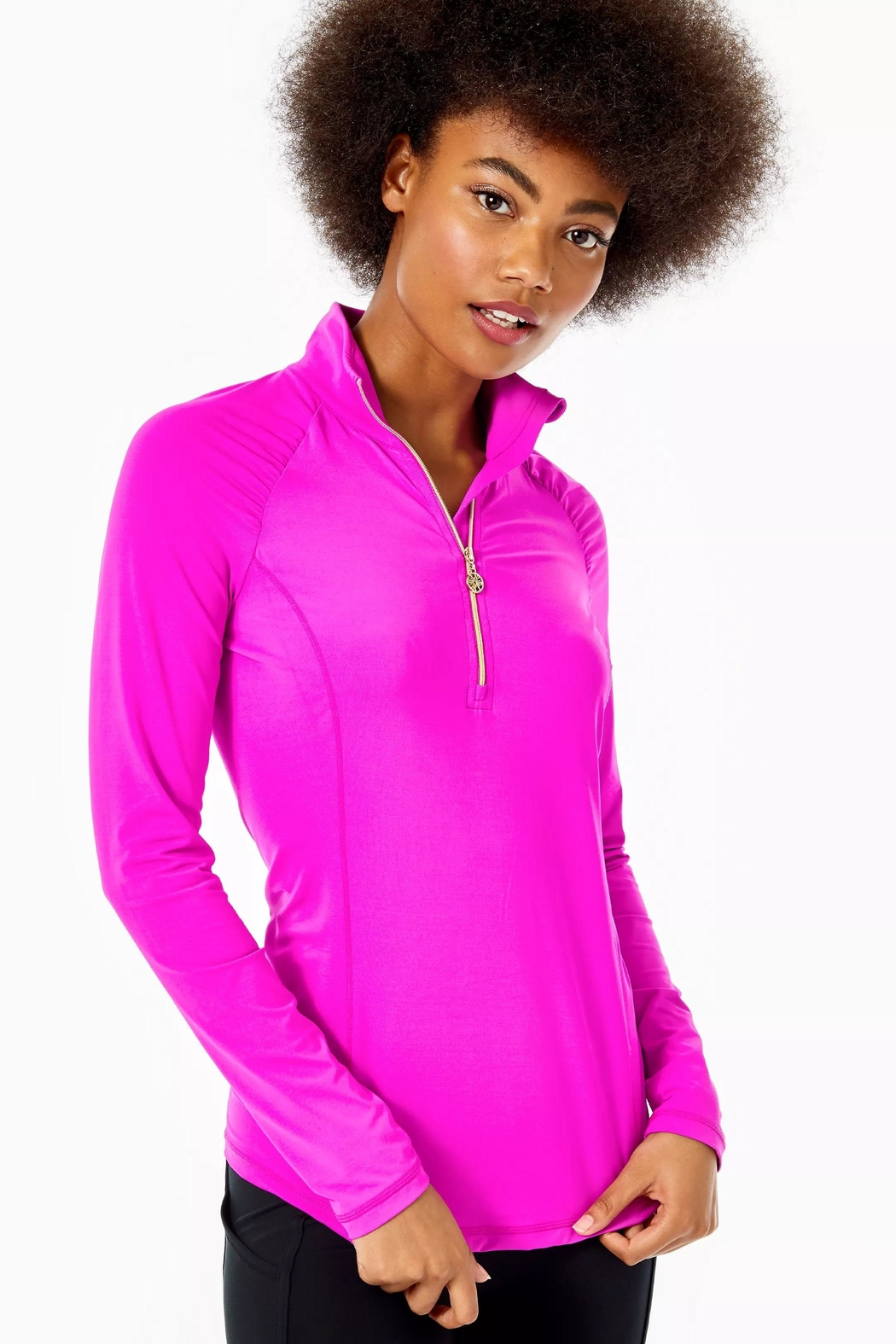 Lilly Pulitzer Luxletic Justine Pullover - Front Cropped Image