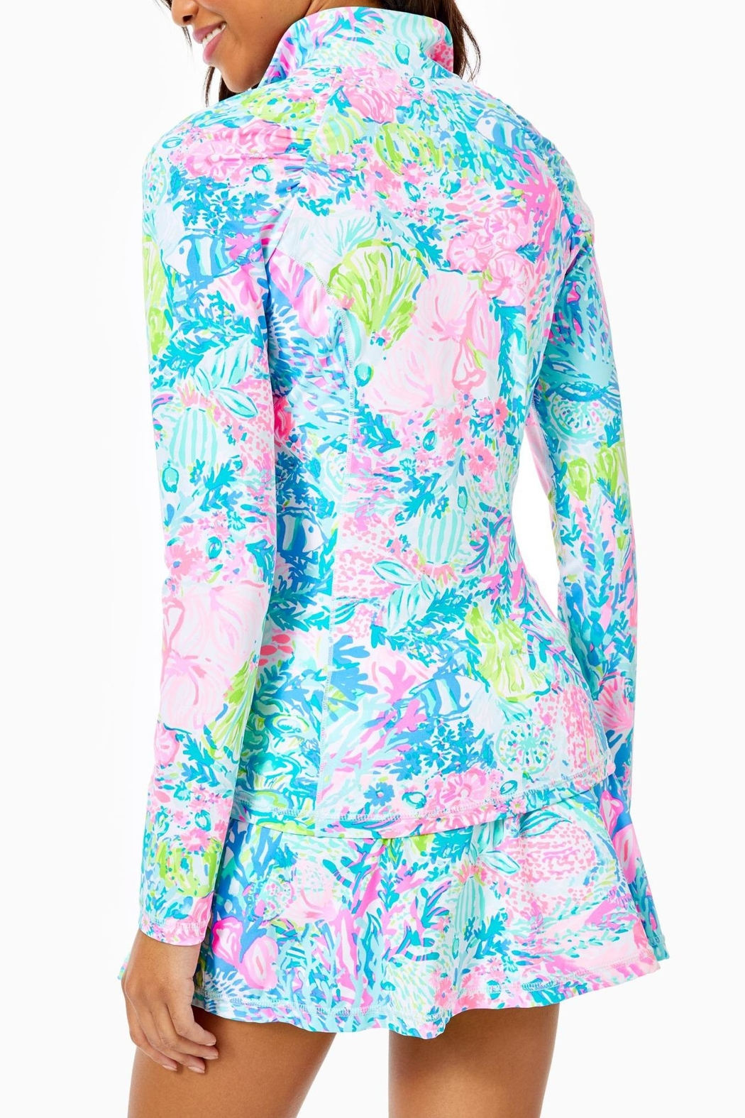 Lilly Pulitzer Luxletic Justine Pullover - Front Full Image