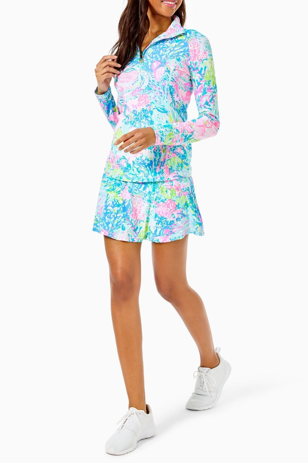 Lilly Pulitzer Luxletic Justine Pullover - Back Cropped Image