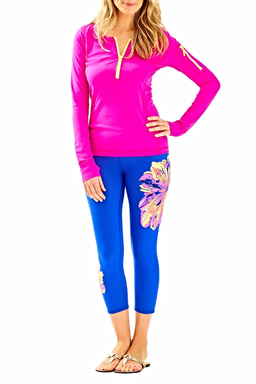 Lilly Pulitzer Luxletic Kona Sunguard Top - Side Cropped Image