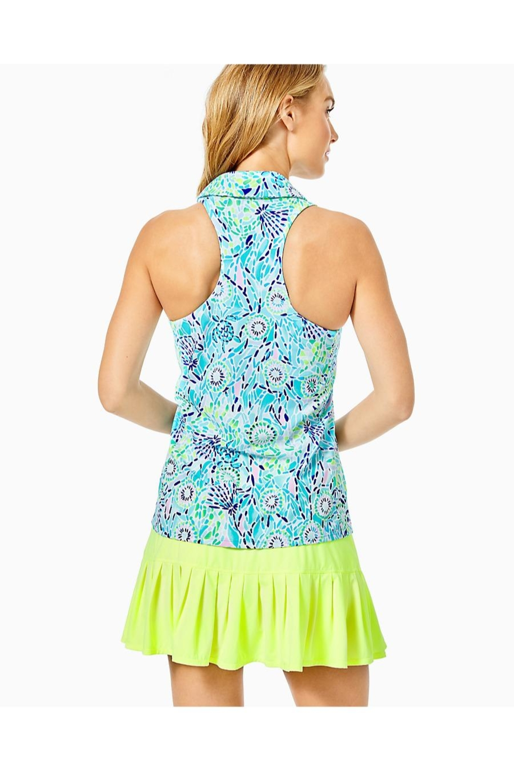 Lilly Pulitzer Luxletic Lakelyn Bra-Polo-Top - Front Full Image
