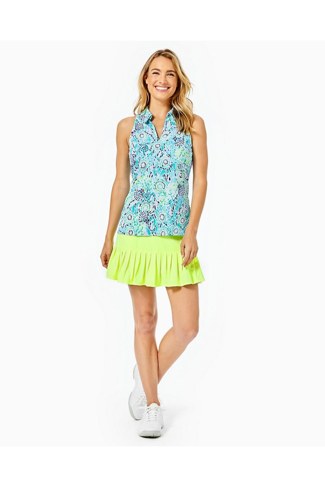Lilly Pulitzer Luxletic Lakelyn Bra-Polo-Top - Side Cropped Image