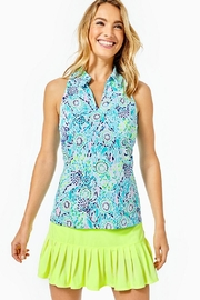 Lilly Pulitzer Luxletic Lakelyn Bra-Polo-Top - Front cropped