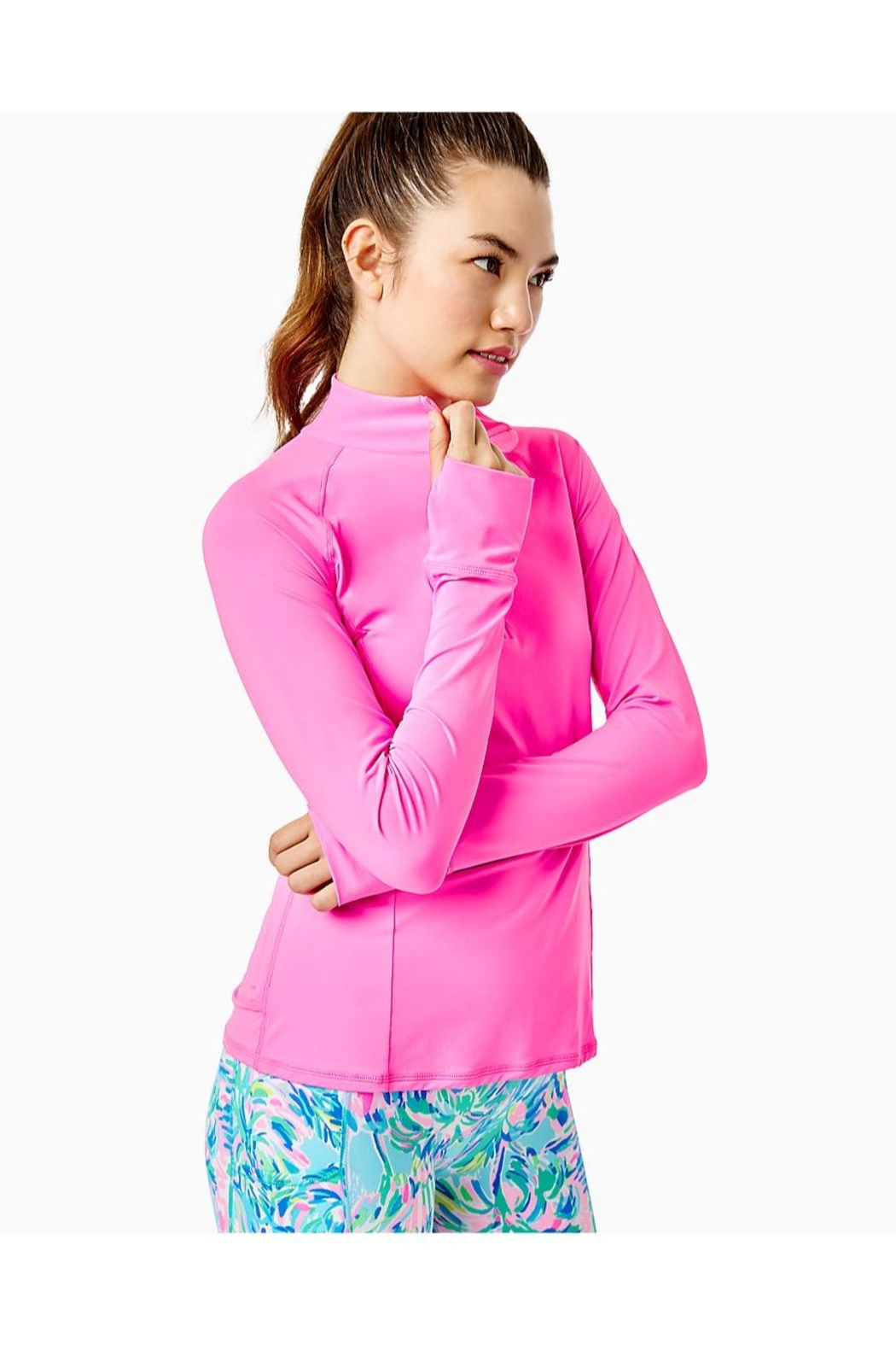 Lilly Pulitzer Luxletic Marion Half-Zip - Side Cropped Image