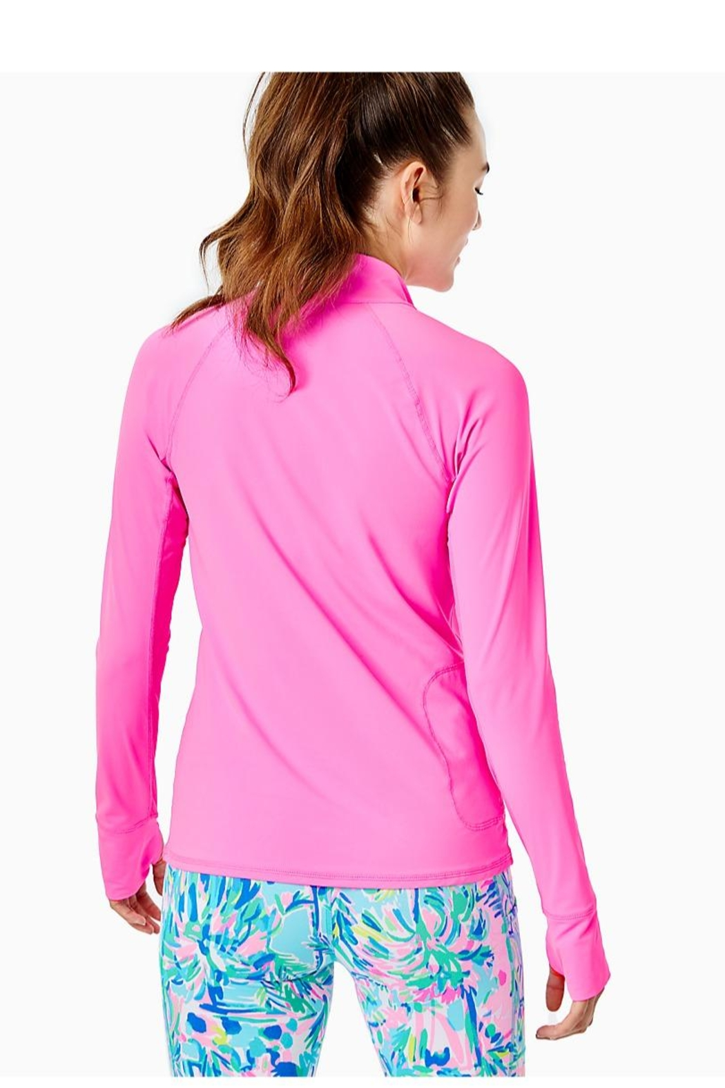 Lilly Pulitzer Luxletic Marion Half-Zip - Front Full Image