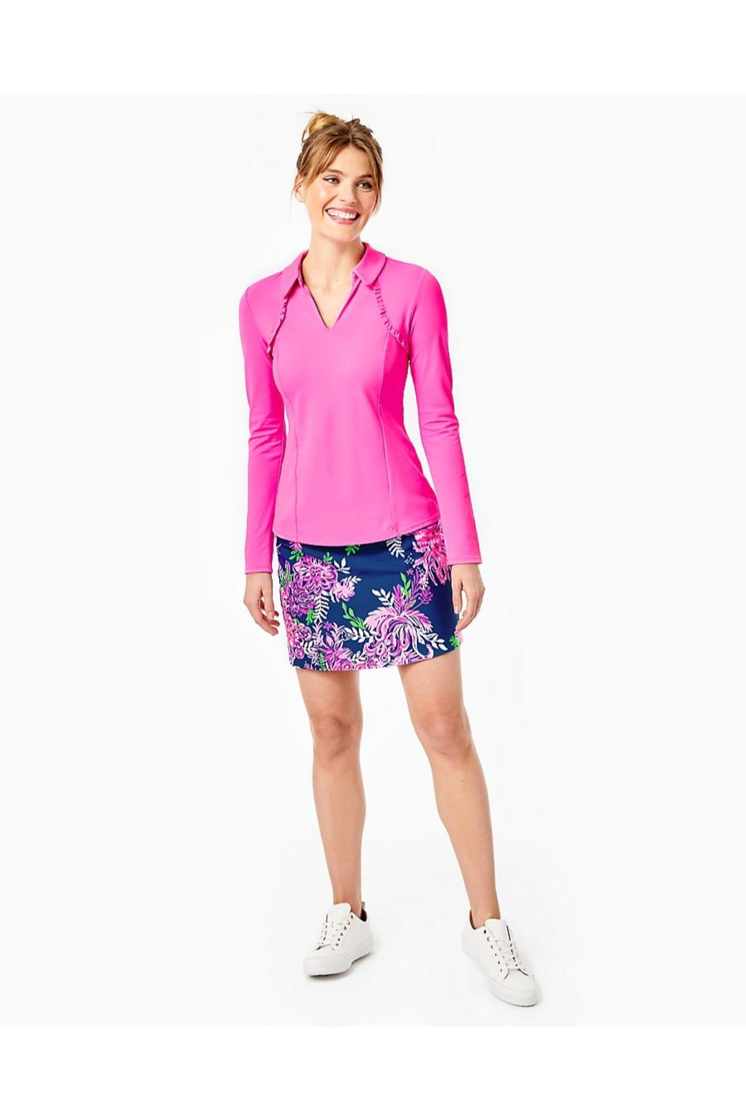 Lilly Pulitzer Luxletic Martina Polo - Side Cropped Image