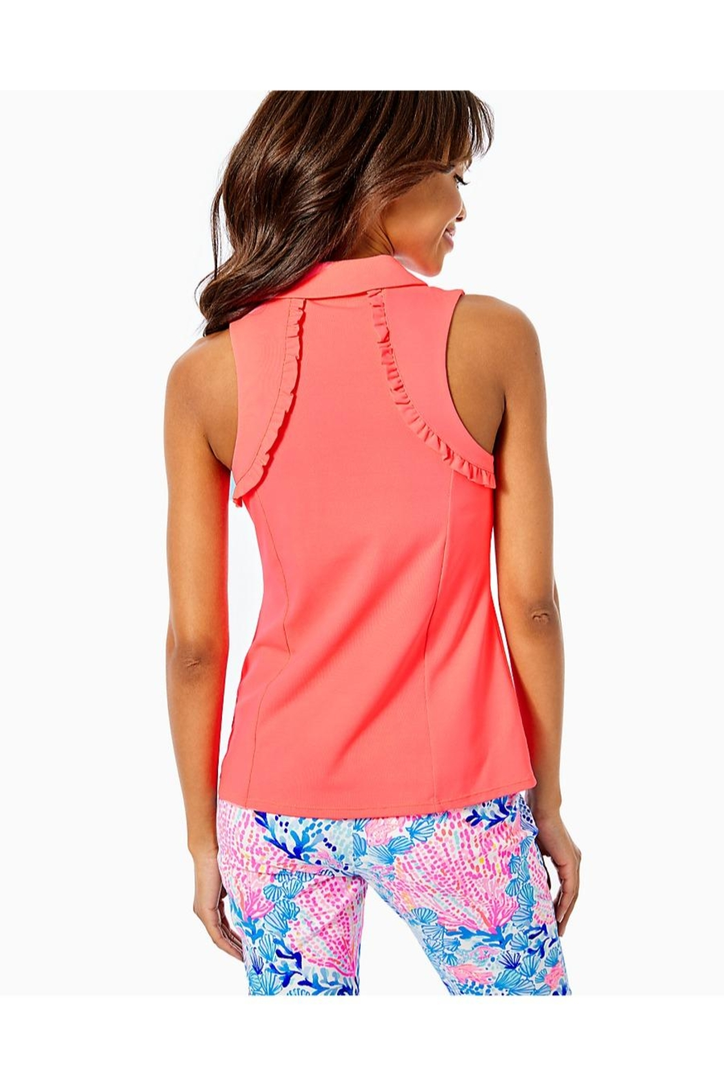 Lilly Pulitzer Luxletic Martina Polo-Top - Front Full Image