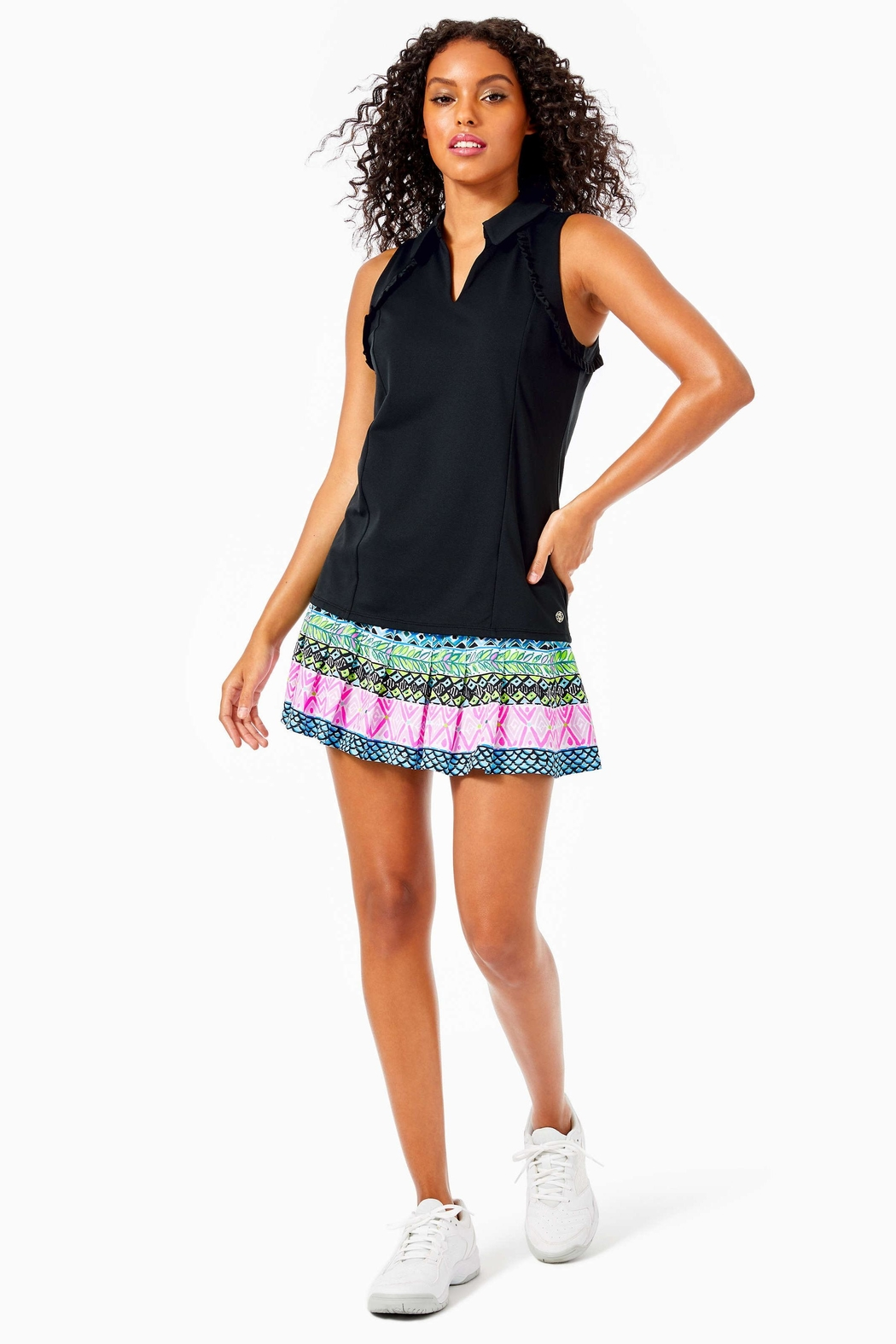 Lilly Pulitzer Luxletic Martina Polo-Top - Main Image