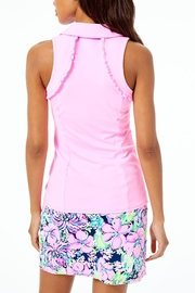 Lilly Pulitzer Luxletic Martina Polo-Top - Front full body
