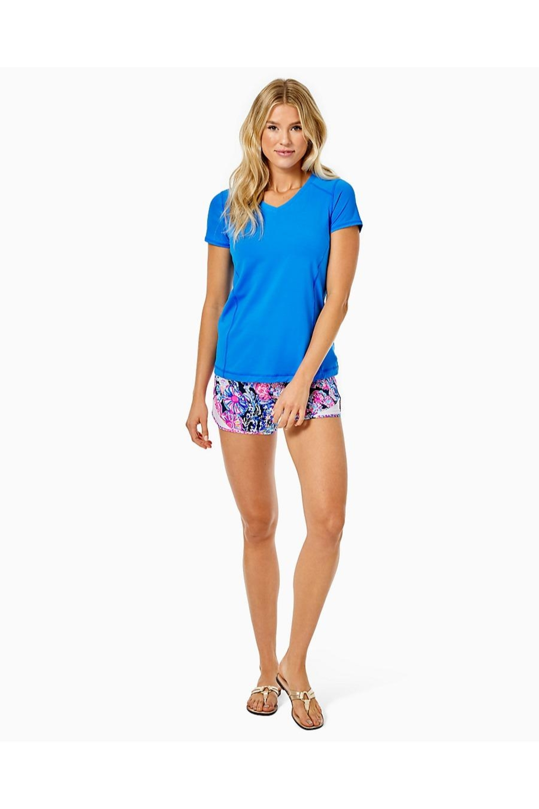 Lilly Pulitzer Luxletic Renay Active-Tee - Side Cropped Image