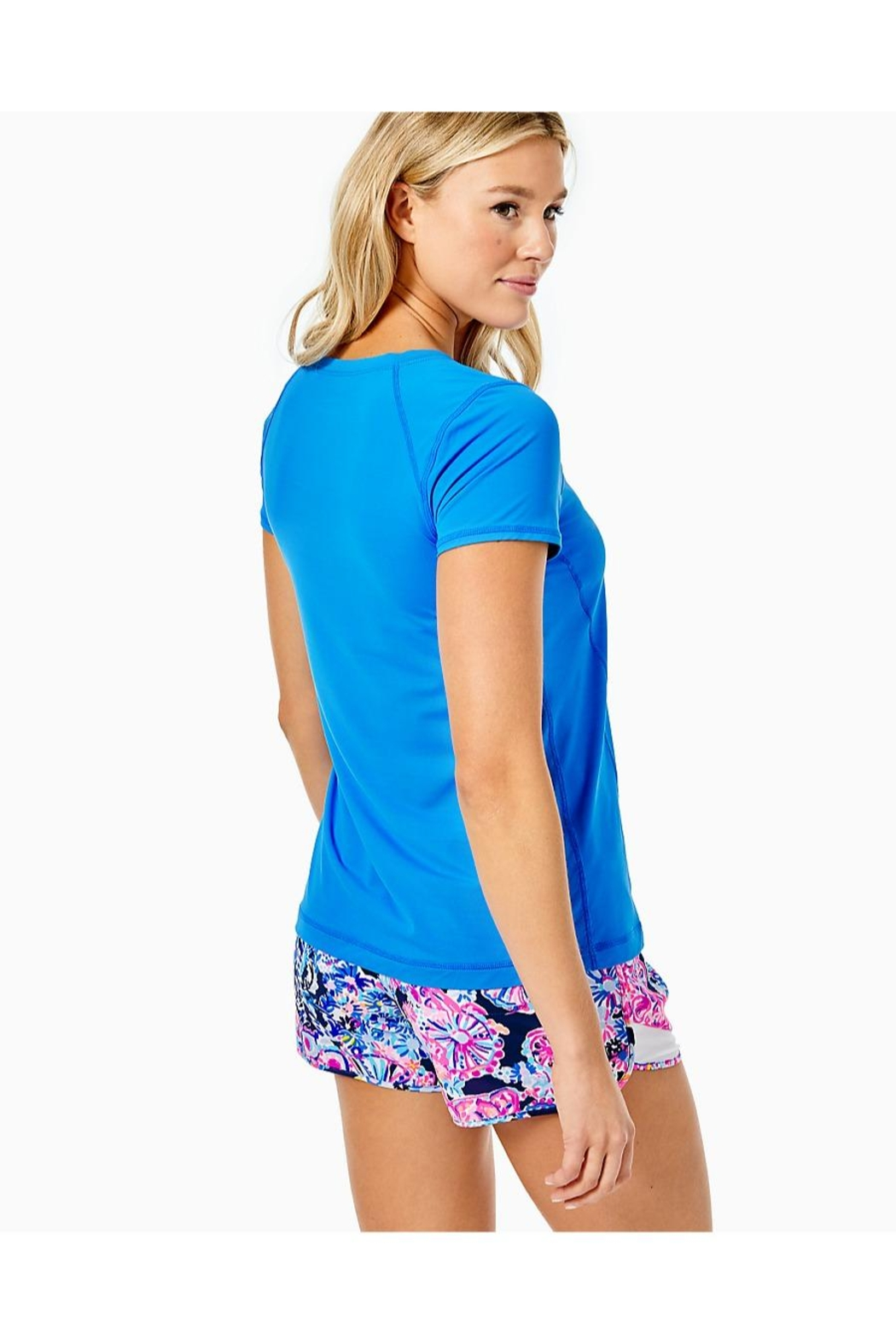 Lilly Pulitzer Luxletic Renay Active-Tee - Front Full Image