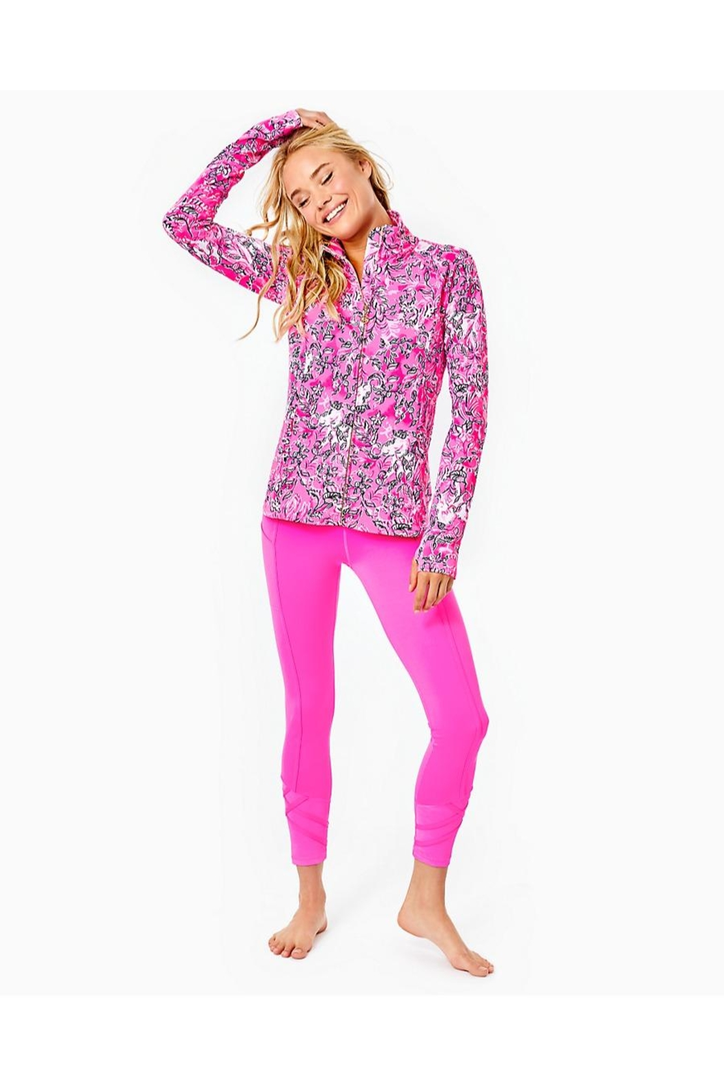 Lilly Pulitzer Luxletic Serena Jacket - Back Cropped Image