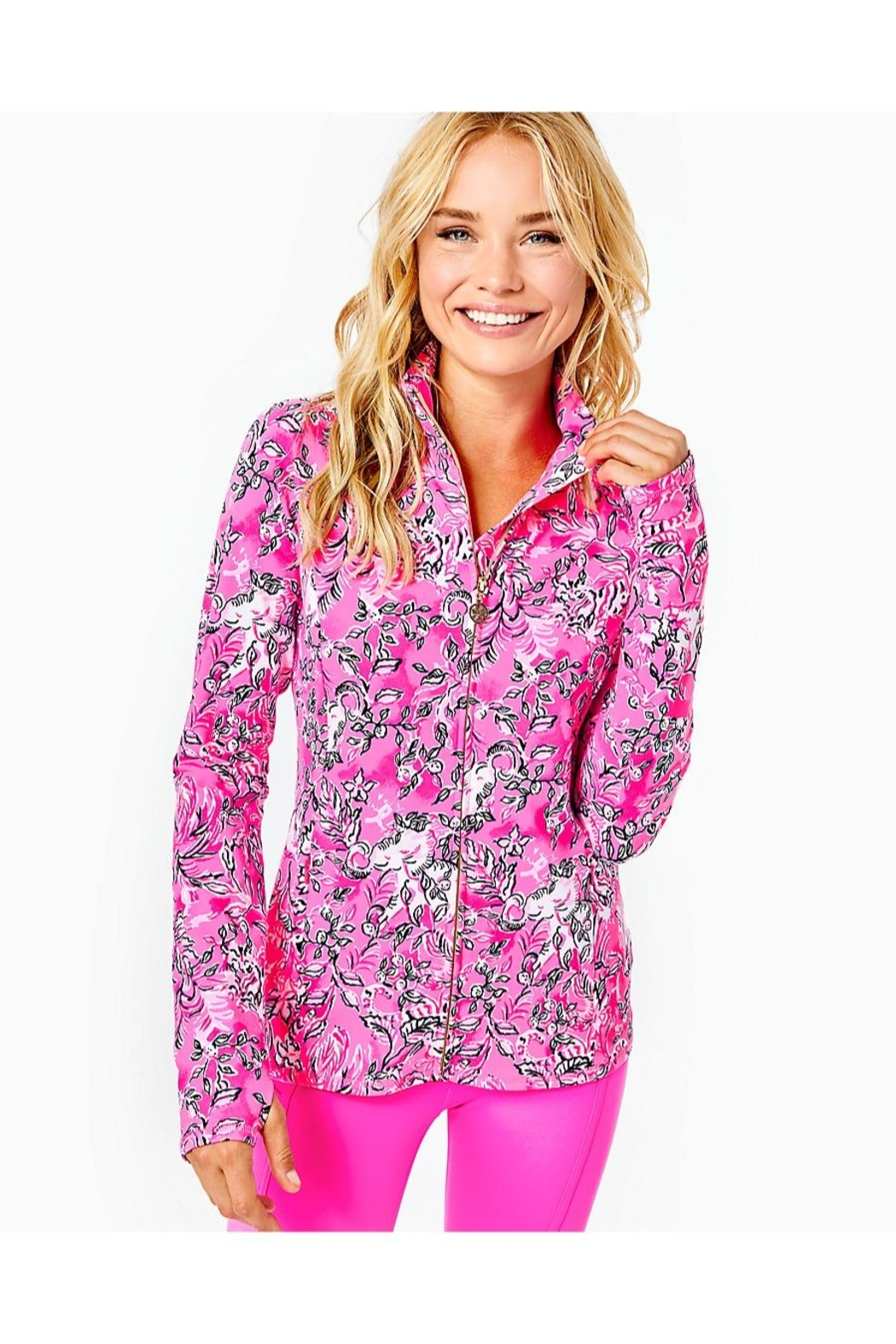 Lilly Pulitzer Luxletic Serena Jacket - Side Cropped Image