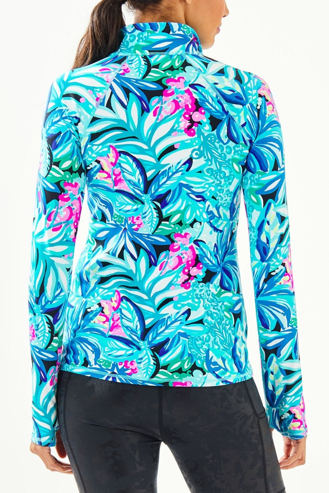 Lilly Pulitzer Luxletic Serena Zip-Up - Front Full Image