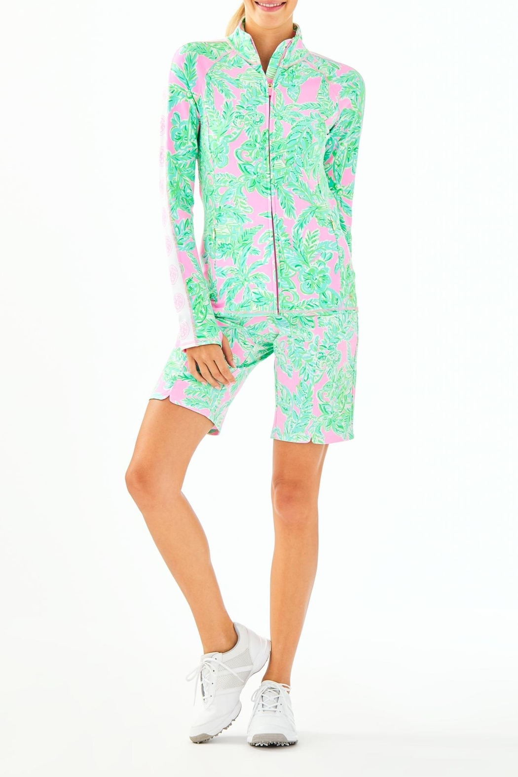 Lilly Pulitzer Luxletic Serena Zip-Up - Side Cropped Image