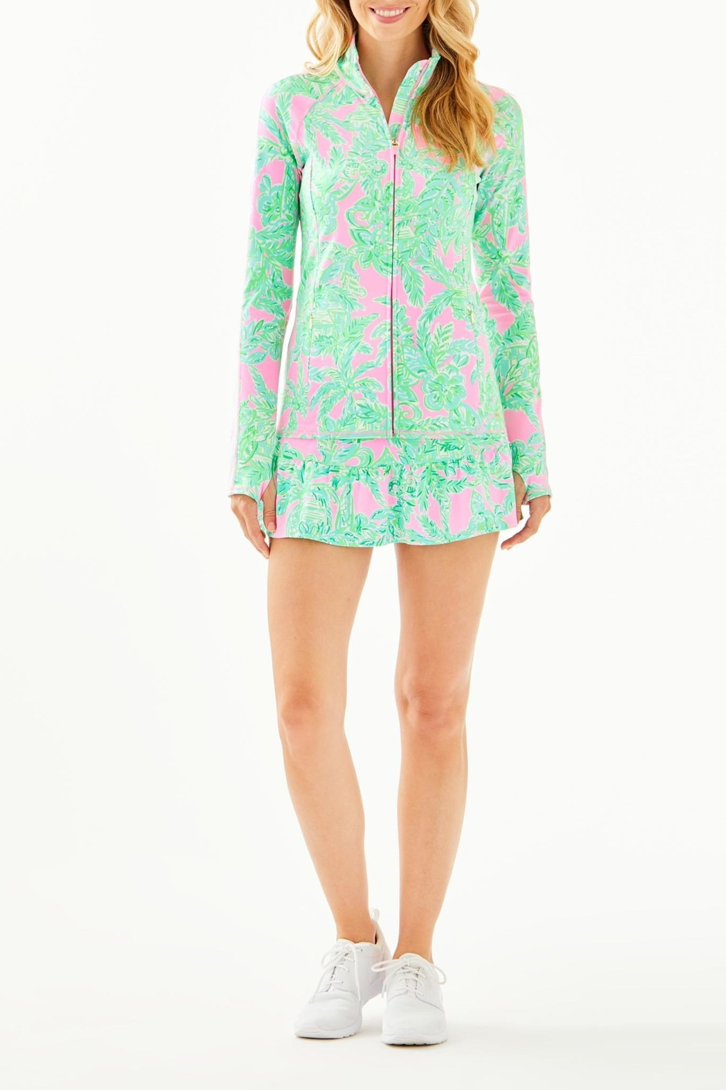 Lilly Pulitzer Luxletic Serena Zip-Up - Back Cropped Image