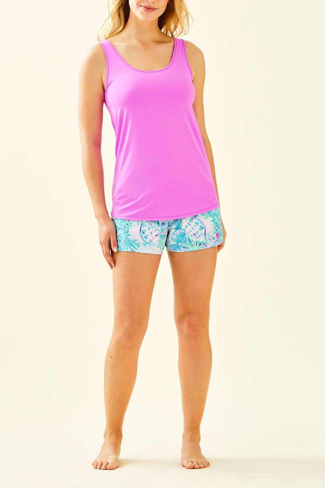 Lilly Pulitzer Luxletic Sunray Bra-Tank-Top - Side Cropped Image