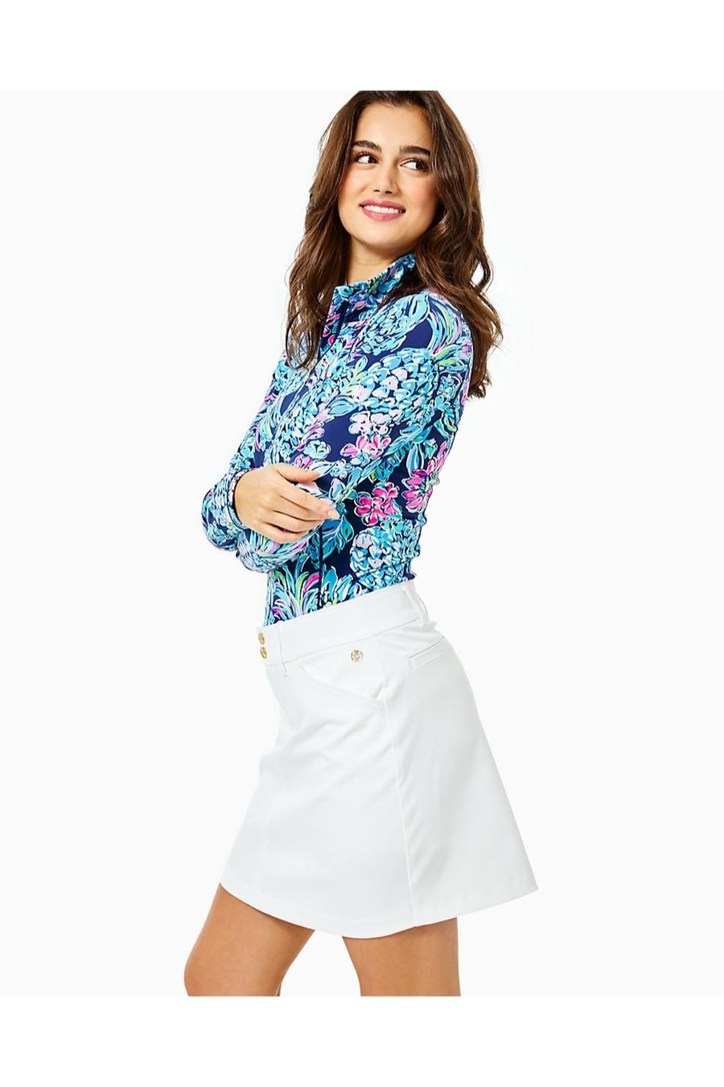 Lilly Pulitzer Luxletic Sybil Skort - Side Cropped Image