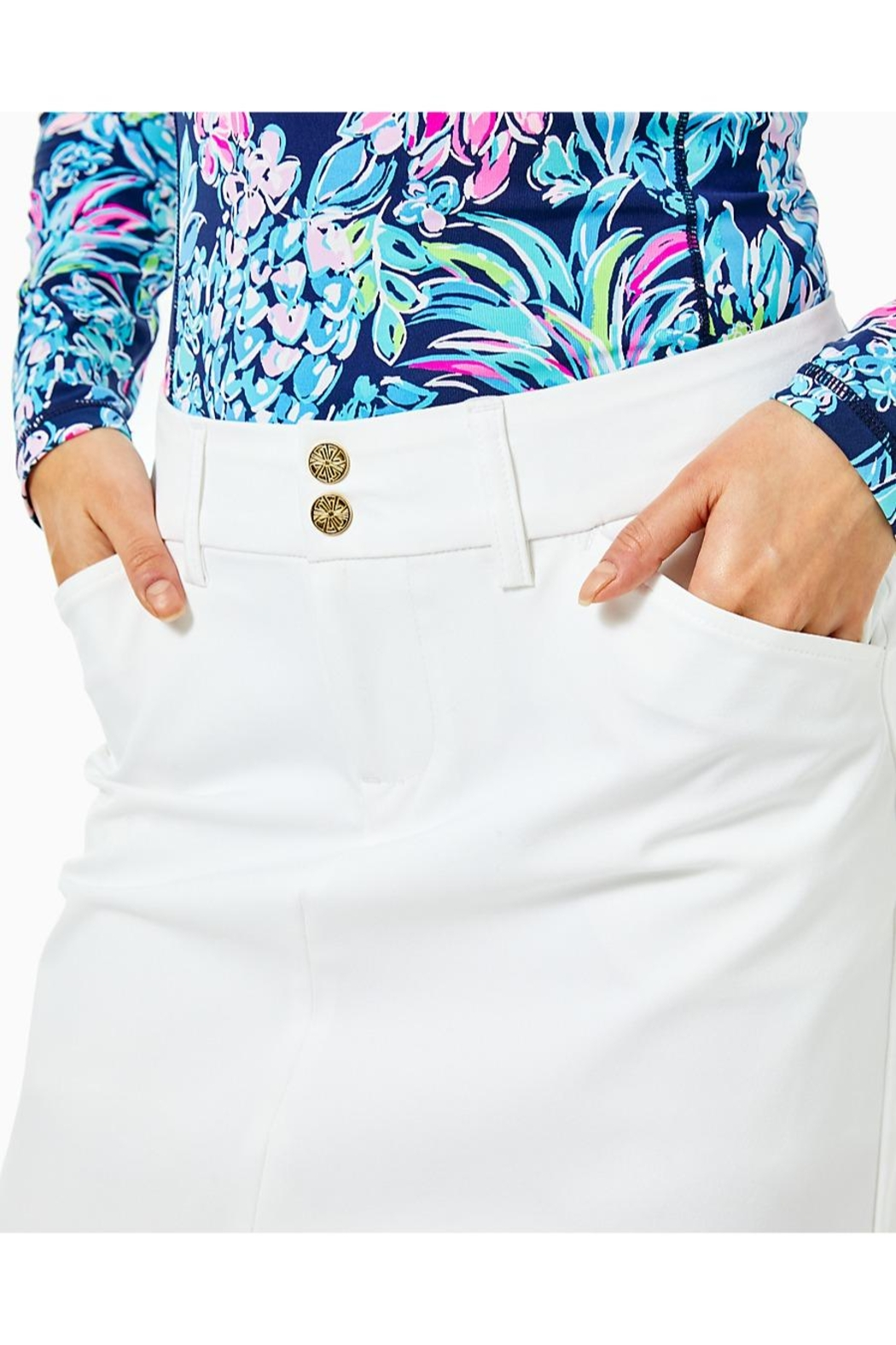 Lilly Pulitzer Luxletic Sybil Skort - Back Cropped Image