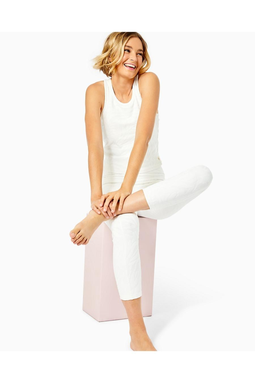 Lilly Pulitzer Luxletic Vanti Tank-Top - Side Cropped Image