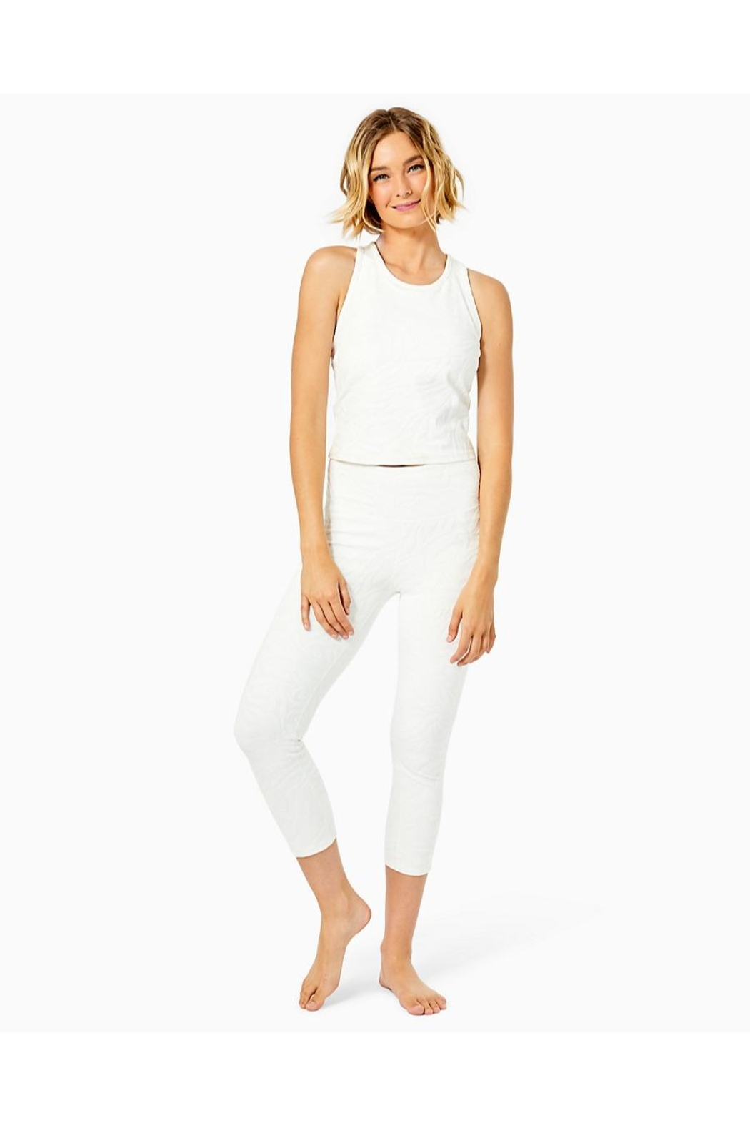 Lilly Pulitzer Luxletic Vanti Tank-Top - Back Cropped Image