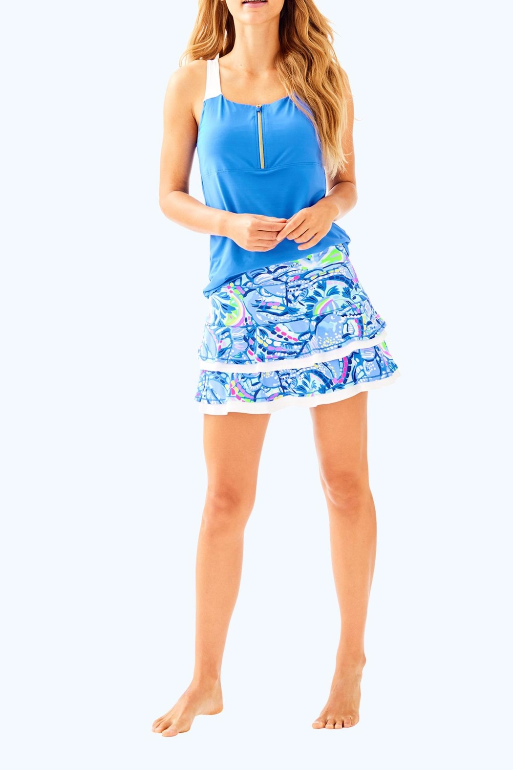 Lilly Pulitzer Luxletic Zela Skort - Back Cropped Image