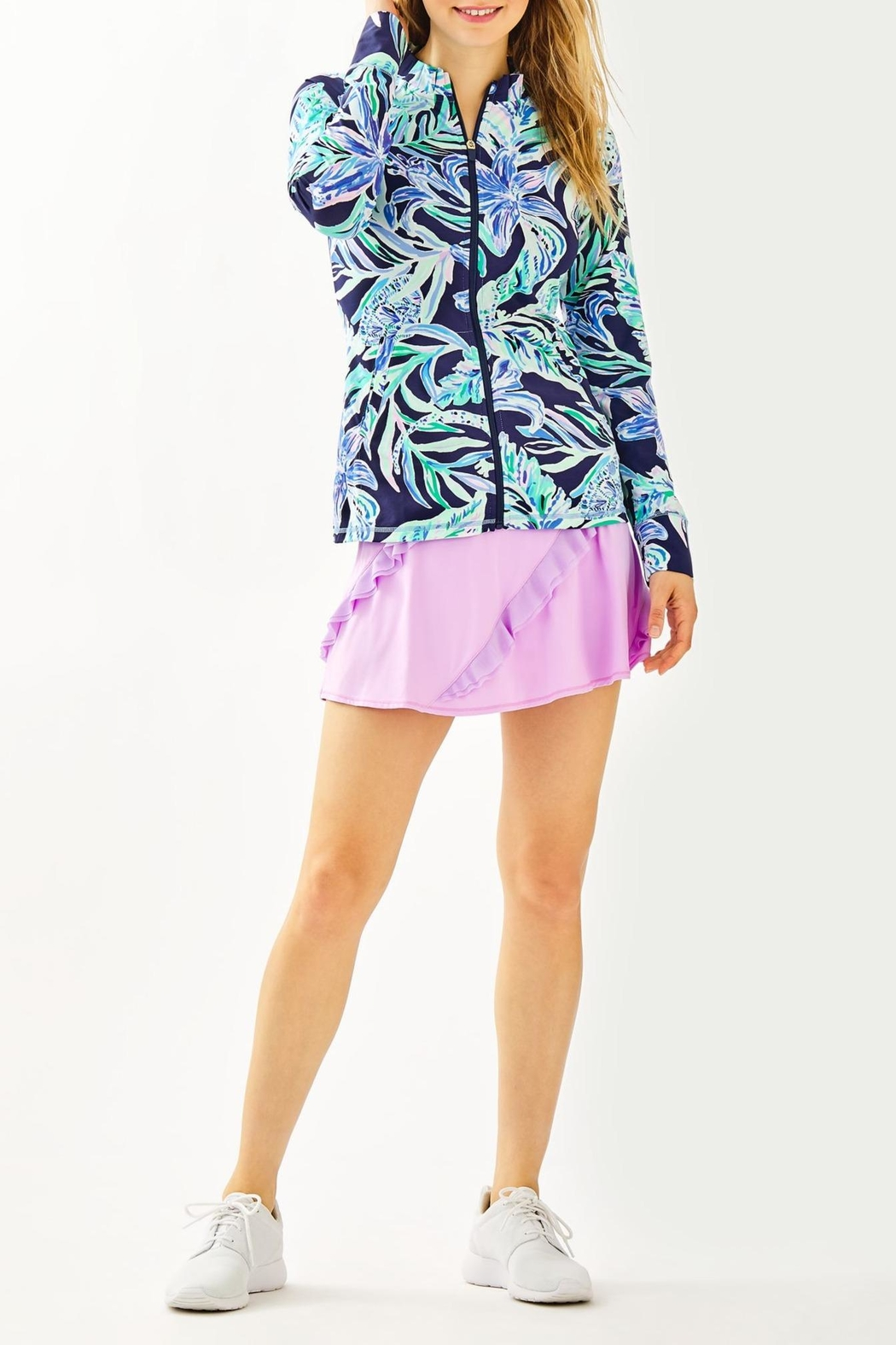 Lilly Pulitzer Luxletlic Hadlee Zip-Up - Side Cropped Image